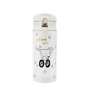 日本 chocobit 一键式水杯 奇玛猫 350ml 119元