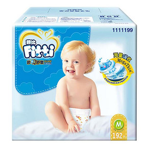 菲比 纸尿裤秒吸舒爽婴儿尿不湿M192片 129元包邮