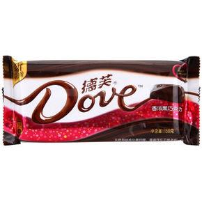Dove 德芙 香浓黑巧克力 150g 9.9元