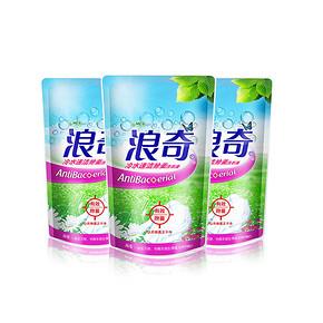 限地区# 浪奇 除菌洗衣液 补充装 380g*3袋 折4.3元(8.5,199-100)