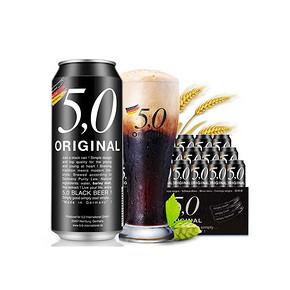 德国进口 5.0 ORIGINAL 黑啤啤酒 500ml*24听 99元包邮