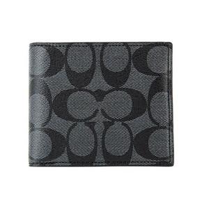 COACH 蔻驰 男款黑灰色短款对折钱包 558.3元包邮(499+59.3)