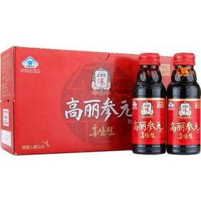 韩国进口 正官庄牌 人参高丽红参参元饮品 100ml*10瓶 69元