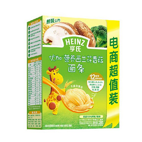 Heinz 亨氏 优加营养西兰花香菇面条 336g 16.8元
