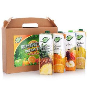 普瑞达 100%果汁礼盒 混合果汁 1L*4瓶 39.9元