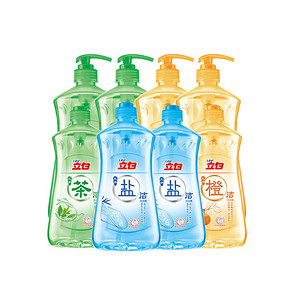 立白 天然盐洁+茶洁+橙洁洗洁精8瓶装 6.24kg 49.8元(99-50)