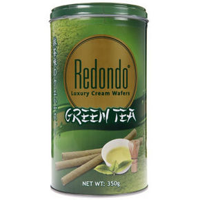 Redondo 瑞丹多 绿茶味威化卷心酥 350g 19.9元