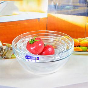 乐美雅 沙拉碗钢化透明玻璃碗 3.9元包邮(8.9-5)