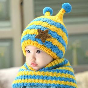婴儿宝宝围巾围脖两件套 11.9元包邮
