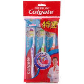 Colgate 高露洁 新超洁净牙刷 3支装 中毛 9.9元