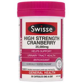 Swisse 高浓度蔓越莓胶囊25000mg 30粒 77.9元(69+8.9)