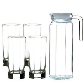 限地区# 青苹果 玻璃水具5件套 白色 19.9元