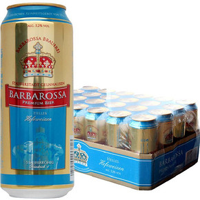 BARBAROSSA 凯尔特人 小麦啤酒 500ml*24听 79元