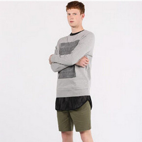 PullAndBear 男士 条纹印图运动衫卫衣 99元
