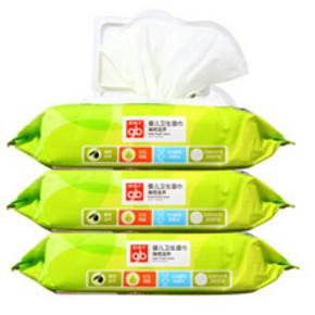 好孩子 婴儿橄榄滋养湿巾 80片*3包 19.9元
