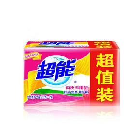 超能 内衣专用皂 202g*2块*2件 9.9元(买2付1)