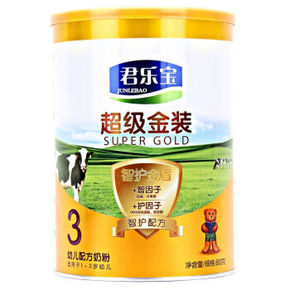 君乐宝 超级金装幼儿配方奶粉 3段 800g 60元