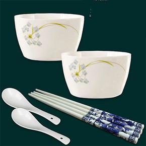 君鑫 6件套餐具套装 2碗 2勺 2筷子 券后5.1元包邮