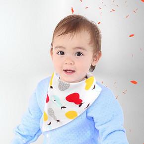 婴儿双层按扣纯棉口水巾 2.9元包邮