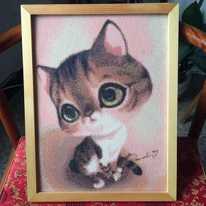 5D新款魔方钻石画 可爱猫咪 5.8元包邮
