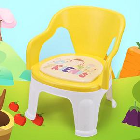 儿童塑料小板凳 带靠背 16.5元包邮