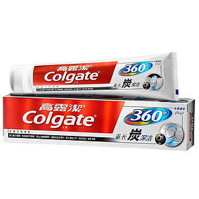 Colgate 高露洁 牙膏 360°备长炭深洁 120g 9.9元