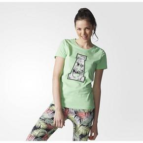 阿迪达斯 neo 女子短袖T恤 浅闪光绿 69元