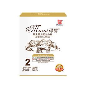 辉山 玛瑞系列  婴儿奶粉2段 400g 9.9元包邮