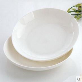 骨瓷餐具 纯白7寸菜盘两个 6.3元包邮