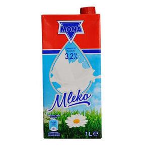 波兰进口 MONA 莫娜 全脂纯牛奶 1L*12盒 69元