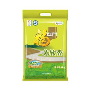 福临门 苏软香大米 4kg 19.9元包邮