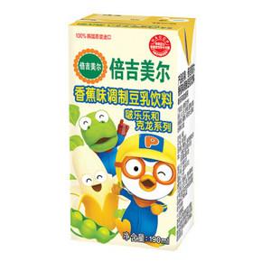 凑单好物# 韩国进口 倍吉美尔 香蕉味调制豆乳饮料 190ml 1元(日常8元)