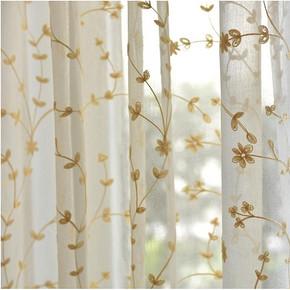 枫情绣庄 高档白色绣花窗帘 5.9元包邮