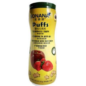 限地区# 索娜娜 泡芙 婴幼儿泡芙 草莓苹果味 42g 9.9元