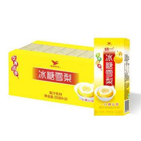 统一 冰糖雪梨饮料 250ml*24盒 21.9元