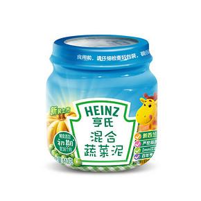 拼单好价# 亨氏  混合蔬菜泥 1段 113g 折4.7元(9.5,199-100)