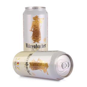 瓦伦丁 小麦啤酒500mlx4听装 12.4元(下单5折)