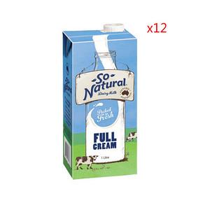 澳洲进口 So Natural 全脂UHT牛奶 1Lx12盒 56.5元(49.9+6.6)
