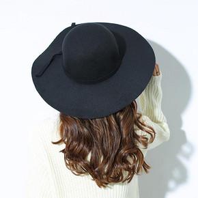 Stylebymas 英伦复古毛呢大沿圆顶礼帽 14.9元包邮(29.9-15券)