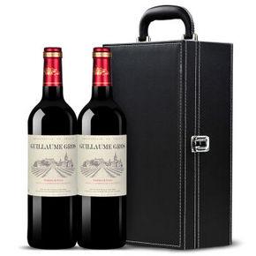 法国进口 大威廉 干红葡萄酒 750ml*2瓶皮盒装 79元
