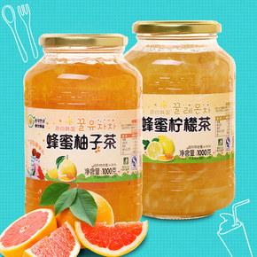 东大韩金 蜂蜜柚子茶1kg+蜂蜜柠檬茶1kg 券后35.9元包邮