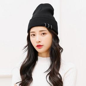 Stylebymas 韩版铁环毛线帽子 券后9.9元包邮