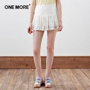 ONE MORE 文墨 夏镂空蕾丝高腰百搭半身裙 39元包邮