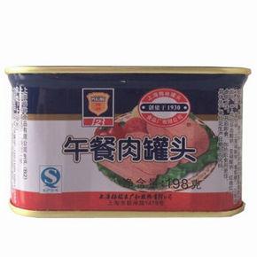 上海特产 梅林午餐肉罐头 198g 4.4元