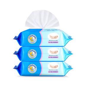 五羊 婴儿护肤柔湿巾 宝宝湿巾带盖 80片*3包 折12元(19.9,2件6折)