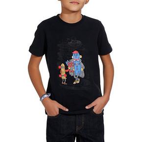 迪卡侬 青少年夏装圆领修身棉印花T恤 19元