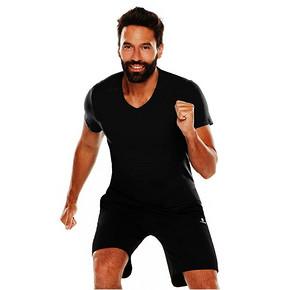 迪卡侬 男士健身V领棉质T恤 19.9元(2件包邮)