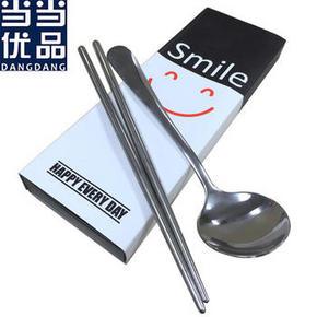凑单品:当当优品 不锈钢筷子勺子两件套 5元