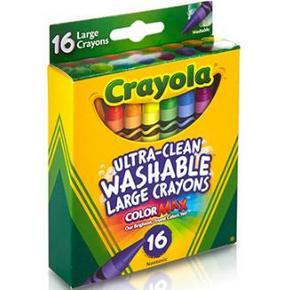 Crayola 绘儿乐 8色可水洗大蜡笔 券后9.9元包邮