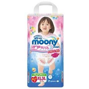 moony 尤妮佳 女婴用拉拉裤 XL38片 84元(75+9.6)